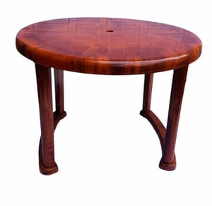 Folding Brown Round Plastic Home Table