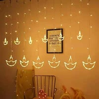 Ac Powered Plugin And Color Changing Type Curtain Diya Led Lights