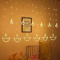 Plugin And Color Changing Type Ac Powered Curtain Diya Led Lights