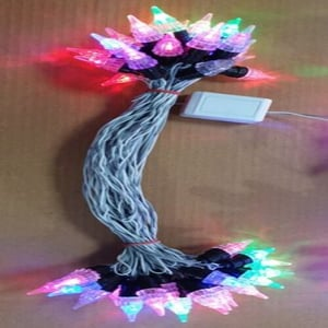 Very Attractive Multicolor Rgb Color Glass Material Candle Pin Type Led Jhalar