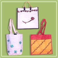 Artfully Designed Embroidered Jute Bags