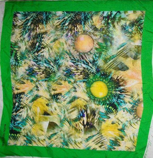 Silk Digital Printed Square Scarves