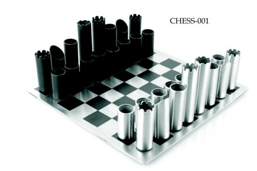 Stainless Steel Chess Sets - SUNDER EXPORTS PVT  LTD , A-120