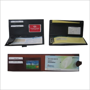 Leather Cheque Book Cover