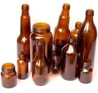 Amber And Clear Glass Bottles