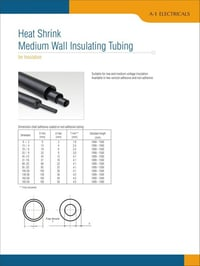 Heat Shrink Medium Wall Insulating Tubing