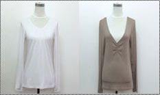 Full Sleeve V-Neck T-Shirt for Ladies