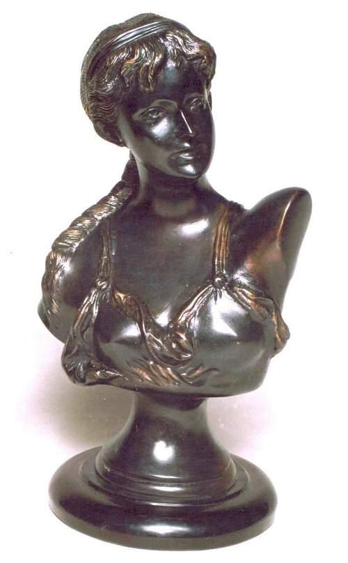 Brass Metal Girl Statue