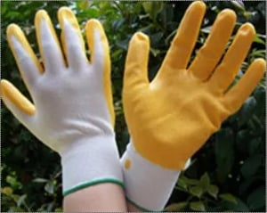 Yellow Nitril Coated Palm Working Gloves