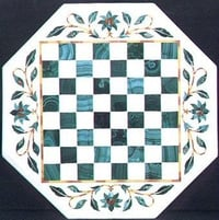 Handmade Marble Chess Table Tops