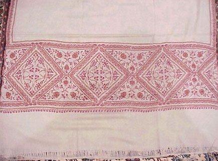 Indian Embroidered Pashmina Shawls