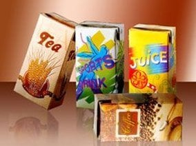 Brick Aseptic Beverage Packaging Box Size: Vary