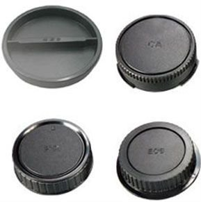 Black Camera Plastic Lens Caps
