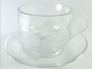 Clear Glass Coffee Cup Set