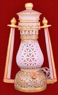 Handcrafted Antique Marble Lantern