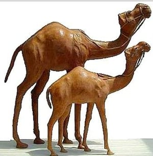 Stuffed Leather Camel Toy