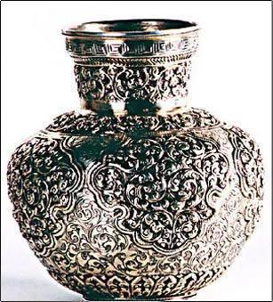 Antique Look Silver Kalash