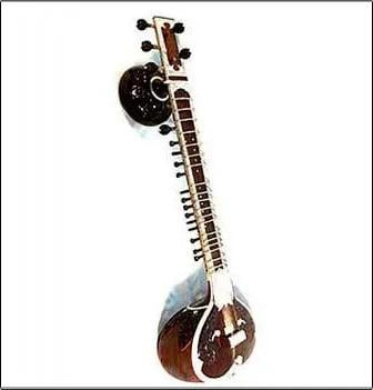 Light Weight Double Gourd Sitar  Body Material: Wood