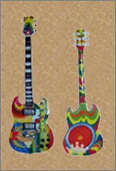 Wooden Body Miniature Guitar