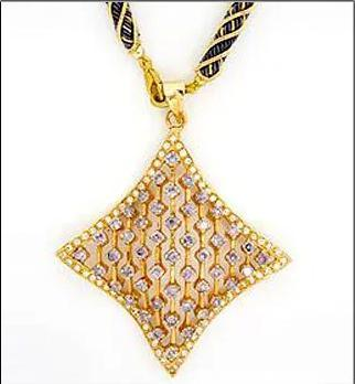 Varios Colors Are Available Printed Design Gold Pendants