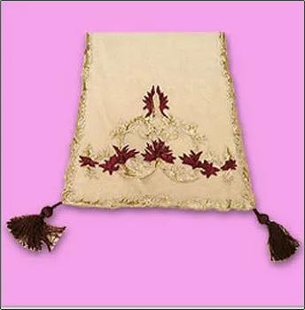 Various Colors Are Available Designer Embroidered Table Cover