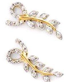 Designer Clear Diamond Earrings