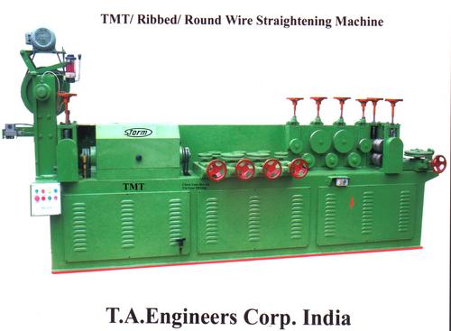 TMT/Ribbed/Round Wire Straightening Machine