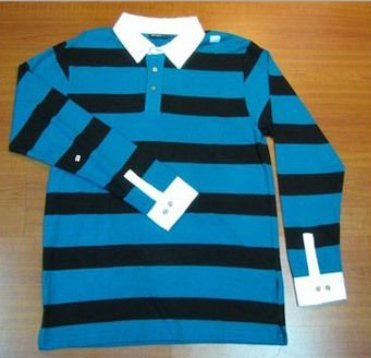 Blue Mens Polo Collar T Shirts
