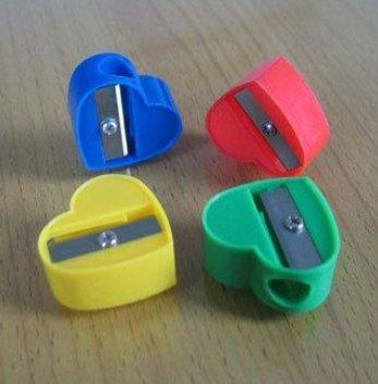 Heart Shaped Plastic Pencil Sharpener