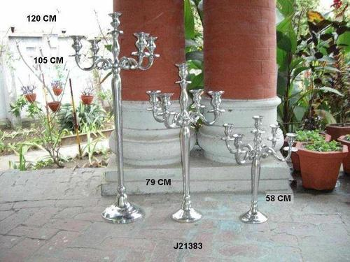 Aluminum Candelabras With Mirror Polish Finish