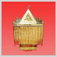 Handcrafted Religious Brass Temple