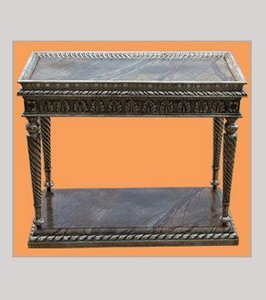 Polished Handcrafted Silver Console Table