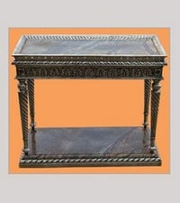 Handcrafted Silver Console Table