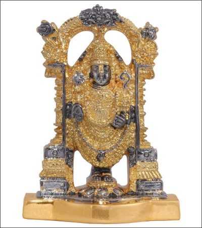 Gold Balaji Statue