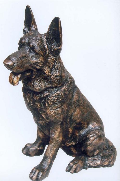 Brass Dog Statue