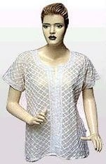 Chikan Embroidered Grey Top