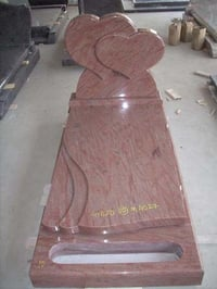 CHERRY RED COLOR GRANITE FUNERAL MONUMENTS