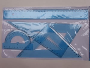 Blue Color Clear Plastic Ruler For Stationery
