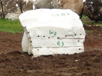 White Color Marble Block