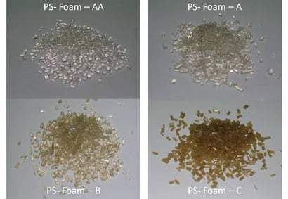 Silver And Brown Polystyrene Granules