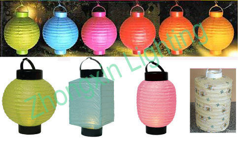 """Various Colors Available 8"""" Rice Paper Battery Operated Lantern"""