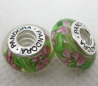 Pandora Glass Beads With Logo