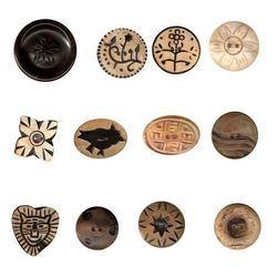 Black Camel Bone Button Blanks