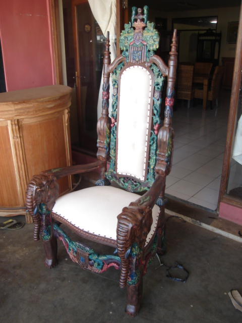 Beautifully Carved Wooden King Chair