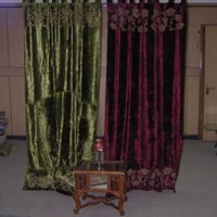 Shaded Applique Work Curtains
