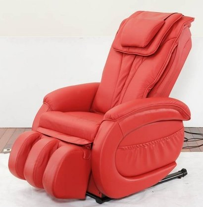 Red Inversion Therapy Super Deluxe Massage Chair