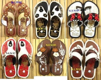 Various Colors Available Slip Resistant Leather Slipper