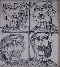 Multi Faces Abstract Paintings