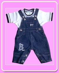Cotton Denim Embroidered Dungaree