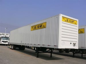 Van Trailer For Container Transporting